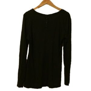 Maurices Black Long Sleeved Black Top Size Large